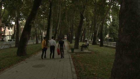 Park Locals Dushanbe Tajikistan 3 Footage