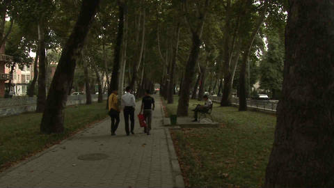 Park Locals Dushanbe Tajikistan 3 Stock Video Footage