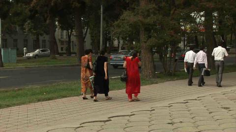 Roadside View Locals Dushanbe Tajikistan 3 Footage