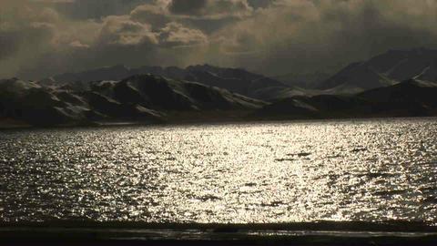 View on Karakul Lake Tajikistan 2 Stock Video Footage