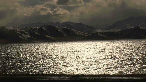View on Karakul Lake Tajikistan 2 Footage