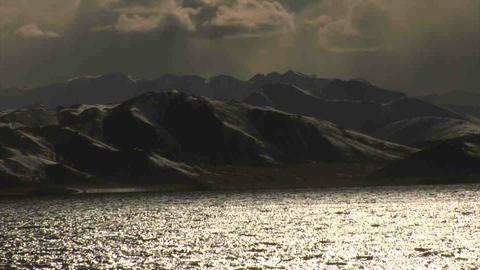View on Karakul Lake Tajikistan 4 Stock Video Footage