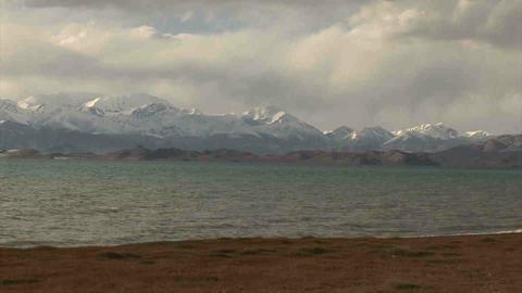 View on Karakul Lake Tajikistan 6 Stock Video Footage