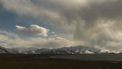 View on Karakul Lake Tajikistan 8 Stock Video Footage