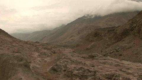 View on Tajikistan & Afghanistan Stock Video Footage