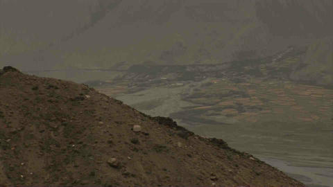 View Wakhan Valley Tajikistan & Afghanistan Stock Video Footage