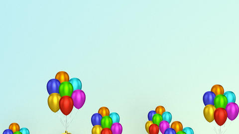 Dollar Signs With Balloons Stock Video Footage