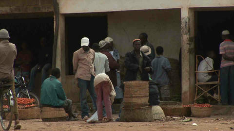 Busy Market Mozambique Stock Video Footage