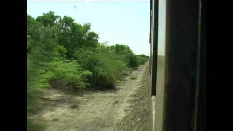 Shot from train Zimbabwe Stock Video Footage