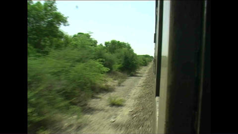 Shot from train Zimbabwe Stock Video Footage