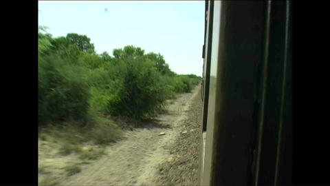 Shot from train Zimbabwe Footage