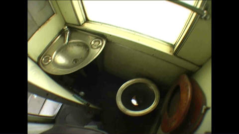 Toilet in train Zimbabwe Stock Video Footage