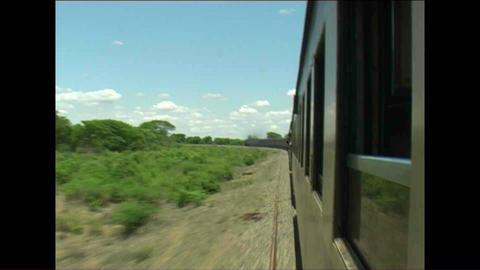 Train Long view Zimbabwe Stock Video Footage