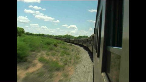 Train Long view Zimbabwe 3 Stock Video Footage