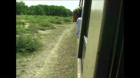 Train Woman watching Zimbabwe Stock Video Footage