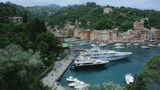 Portofino Harbor stock footage