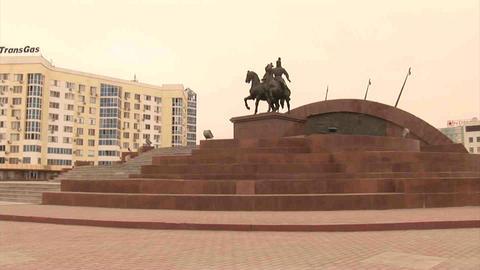 Atyrau Monument Kazakhstan Footage