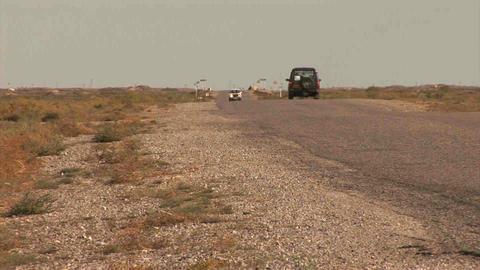 4WD Car Driving in Kazakhstan Stock Video Footage