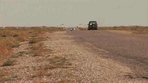 Car Roadside Kazakhstan Footage