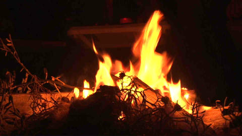 Fire Place Kazakhstan Stock Video Footage