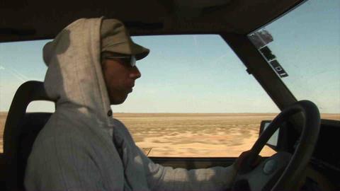 Guy Driving Landrover Kazakhstan Stock Video Footage