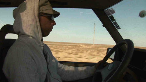 Guy Driving Landrover Kazakhstan Footage