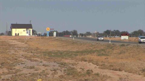 Roadside View Kazakhstan Footage