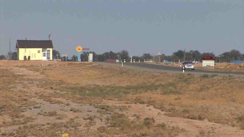 Roadside View Kazakhstan Stock Video Footage