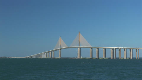 Sunshine Skyway Bridge Stock Video Footage