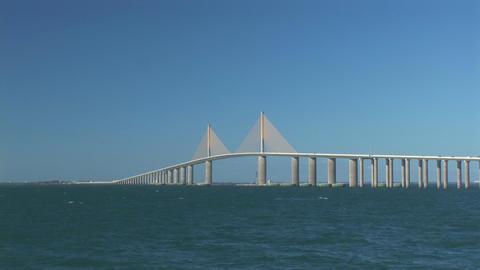 Sunshine Skyway Bridge Stock Video Footage