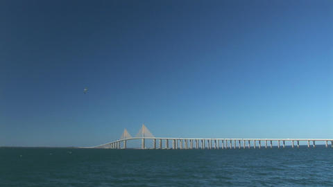 Sunshine Skyway Bridge Footage