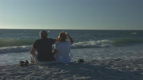 Couple on a beach Footage