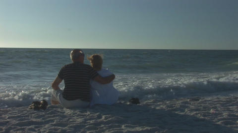 Couple on a beach Stock Video Footage