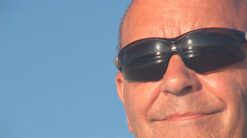 Senior man looking Stock Video Footage