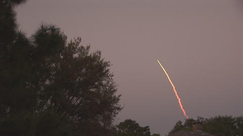 Launch of space shuttle Stock Video Footage