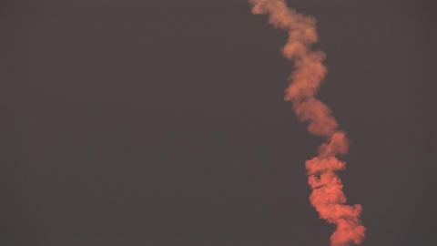 Smoke trail space shuttle Stock Video Footage