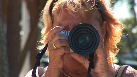 Woman taking picture Footage
