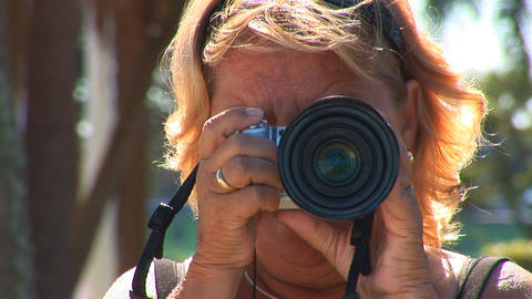 Woman taking picture Stock Video Footage