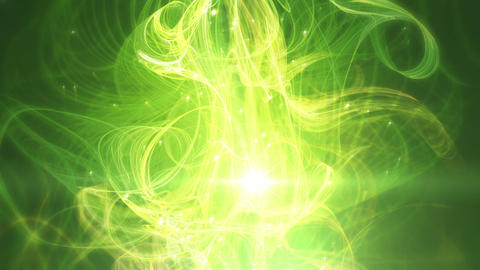CassandraGreen - Elegant Green Abstract Lights Vid stock footage