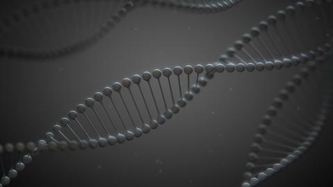 GrayDNA - Stylized DNA Spirals Video Background Lo Stock Video Footage
