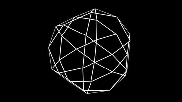 3d grid Multi-faceted body frame,tech web virtual background Stock Video Footage