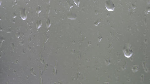 Water drops on window Footage
