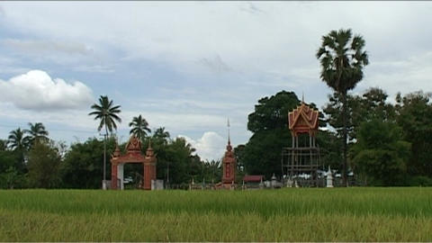 Temple in landscape Stock Video Footage