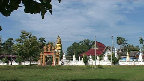 Don Khong Wat Jom Thong temple Footage