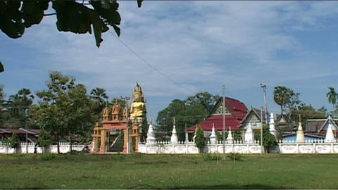 Don Khong Wat Jom Thong temple Stock Video Footage