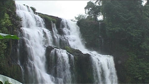 Boloven Plateau Tad Yuang waterfall Footage