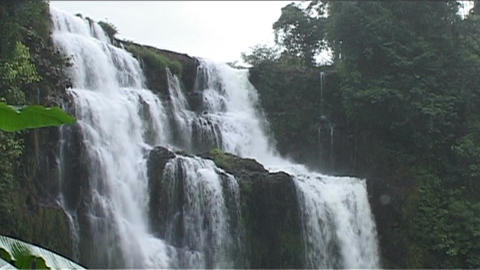 Boloven Plateau Tad Yuang waterfall Stock Video Footage