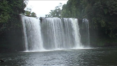 Boloven Plateau Tham Champy waterfall Footage