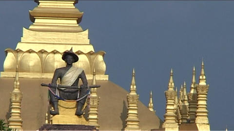 Vientiane Pha That Luang Footage