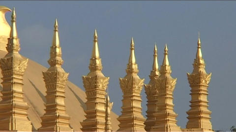 Vientiane Pha That Luang detaill Footage